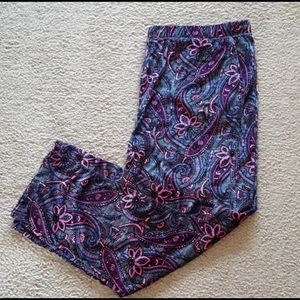 Purple Paisley Pajama Bottoms